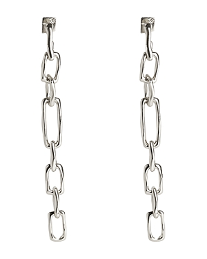 Alexis Bittar FUTURE ANTIQUITY CHAIN-LINK LINEAR DROP EARRINGS