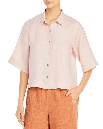 Eileen Fisher Petites - Organic Linen Elbow-Sleeve Shirt
