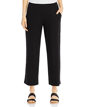 Eileen Fisher - Wide-Leg Ribbed Pants