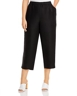 Eileen Fisher Plus - Cropped Pull-On Pants