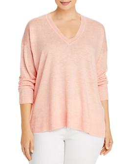 Eileen Fisher Plus - Organic Linen V-Neck Sweater