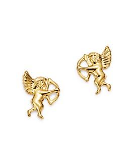 Bloomingdale's - Cupid Stud Earrings in 14K Yellow Gold - 100% Exclusive