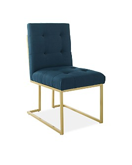 Modway - Privy Gold Stainless Steel Upholstered Fabric Dining Accent Chair