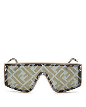Fendi - Unisex Logo Shield Sunglasses, 145mm
