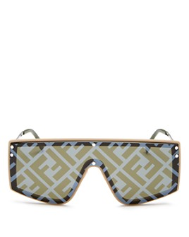 Fendi - Unisex Logo Shield Sunglasses, 145mm