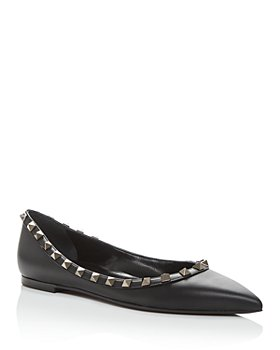 Valentino Garavani - Women's Rockstud Pointed-Toe Flats