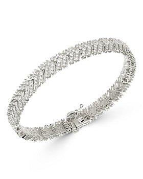 Bloomingdale's - Diamond Chevron Bracelet in 14K White Gold, 4 ct. t.w. - 100% Exclusive