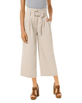MICHAEL Michael Kors - Belted Paperbag-Waist Culottes