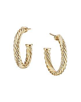 David Yurman - Small Cablespira Hoop Earrings in 18K Yellow Gold