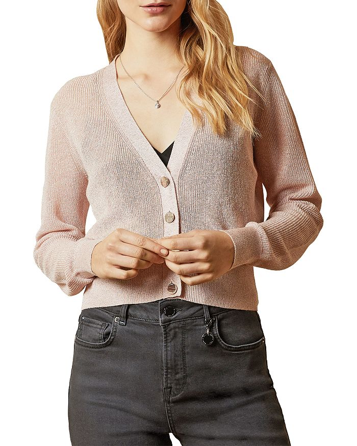 Ted Baker Madieyy V-neck Cardigan In Baby Pink