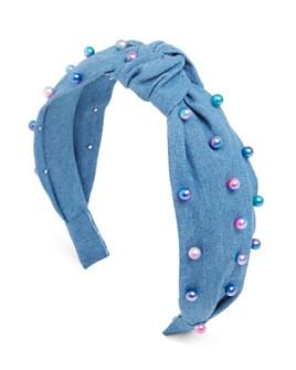 GiGi - Girls' Embellished Knot Denim Headband