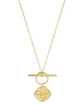 "ALLSAINTS - Gold-Tone Coin Pendant Toggle Necklace, 24"""