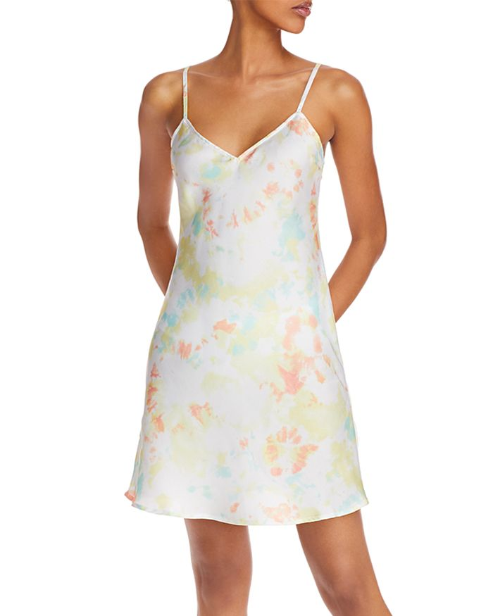 FRENCH CONNECTION - Satin Tie-Dyed Dress
