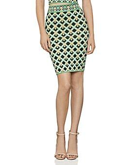 BCBGMAXAZRIA - Diamond Knit Pencil Skirt