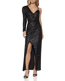 BCBGMAXAZRIA - One-Sleeve Sequin Gown