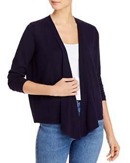 VINCE CAMUTO - Draped Ribbed Cardigan
