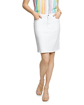 NYDJ - Five-Pocket Denim Skirt in Optic White