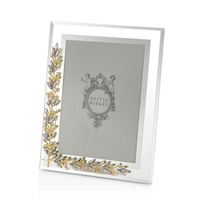 """Olivia Riegel - Gold & Silver Laurel Frame, 5"""" x 7"""""""