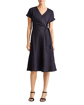 Ralph Lauren - Rolled-Sleeve Midi Dress