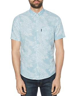 Original Penguin - Cotton Leaf-Printed Regular Fit Shirt