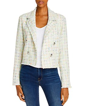 AQUA - Cropped Tweed Blazer - 100% Exclusive
