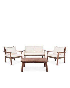 SAFAVIEH - Reid 4-Piece Indoor/Outdoor Living Set