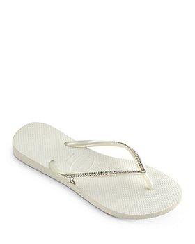 havaianas - Women's Crystal Mesh Slim Flip-Flops