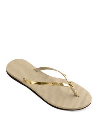 Havaianas You Metallic Flip Flops Ladies Flip Flops Black