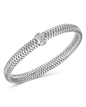 Roberto Coin 18K White Gold Primavera Diamond Flex Bracelet-Jewelry & Accessories