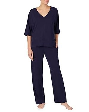 Lace-Back Cotton Pajamas Set