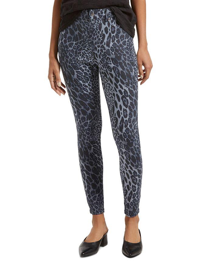 HUE - Leopard-Print Denim Leggings