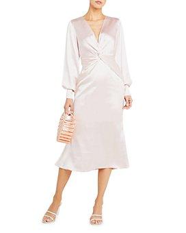 O.P.T - Marasala Twist-Front Midi Dress