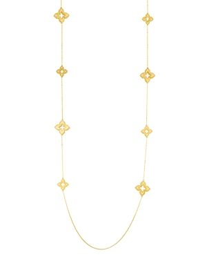 Roberto Coin 18K Yellow Gold Venetian Princess Diamond Flower Station Necklace, 33-Jewelry & Accessories