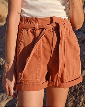 AMO - Cuffed Paperbag-Waist Shorts