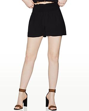 Smocked-Waist Cotton Shorts
