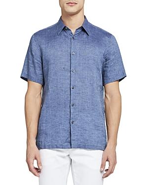 Theory Irving Short-Sleeve Linen Shirt