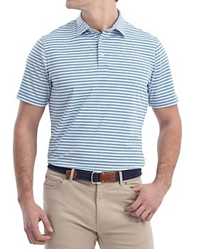 Johnnie-O - Smith Stripe Classic Fit Performance Polo Shirt