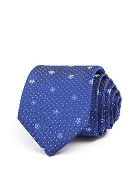 Paul Smith - Floral & Dot Silk Skinny Tie