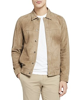 Theory - Suede Shirt Jacket