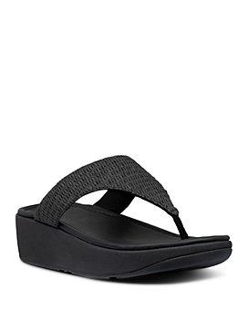 FitFlop - Women's Imogen Basket-Weave T-Strap Wedge Sandals