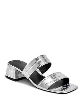 Marc Fisher LTD. - Women's Pat Square Toe Mid Heel Sandals