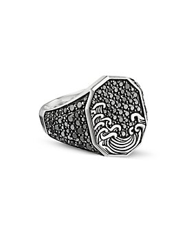 David Yurman - Waves Signet Ring with Pavé Black Diamonds