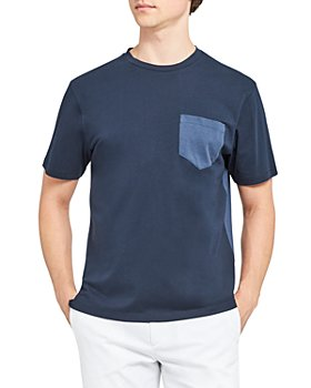 Theory - Luxe Cotton Piqué Color Blocked Tee
