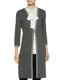 Misook - Striped Duster Cardigan