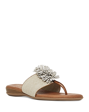 Women's Novalee Featherweights Leather Fringe Demi Wedge Sandals