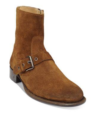 Essex Artisan Suede Buckle Boots