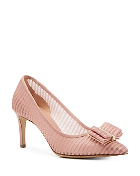 Salvatore Ferragamo - Women's Zeri Lace Pointed Toe Pumps