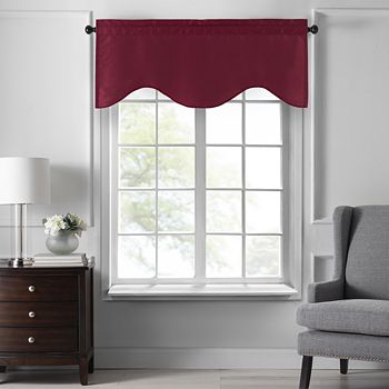 """Elrene Home Fashions - Colette Scalloped Window Valance, 50"""" x 21"""""""