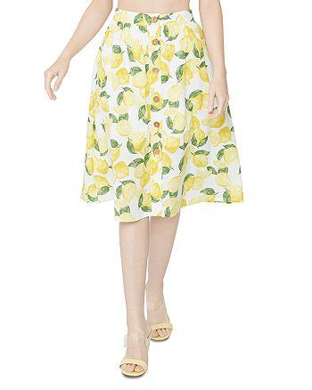 BCBGeneration - Button Front Lemonade Skirt