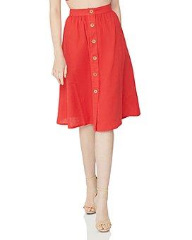 BCBGeneration - Button Front Woven Skirt
